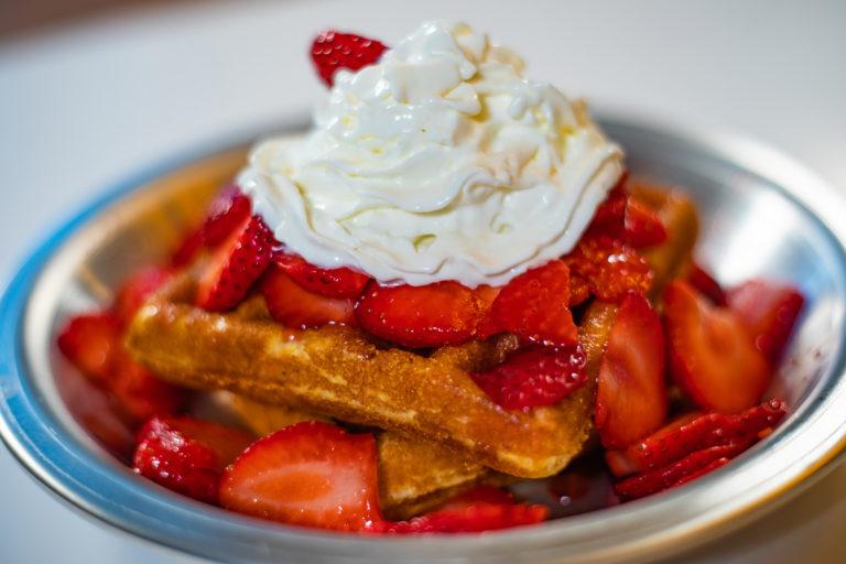 Strawberry Cornbread Waffle